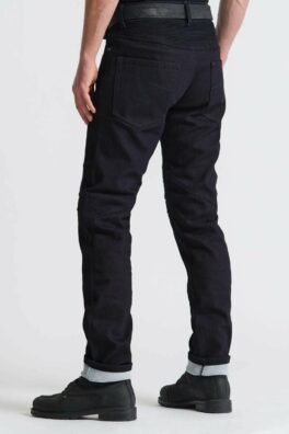 Karl Steel Black – Men's Single Layer Dyneema® Motorcycle Jeans rear view