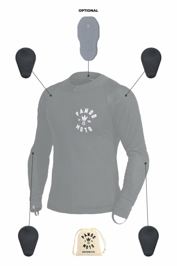 SHELL UH 01 – Unisex Dyneema® Armored Motorcycle Shirt shoulders protection
