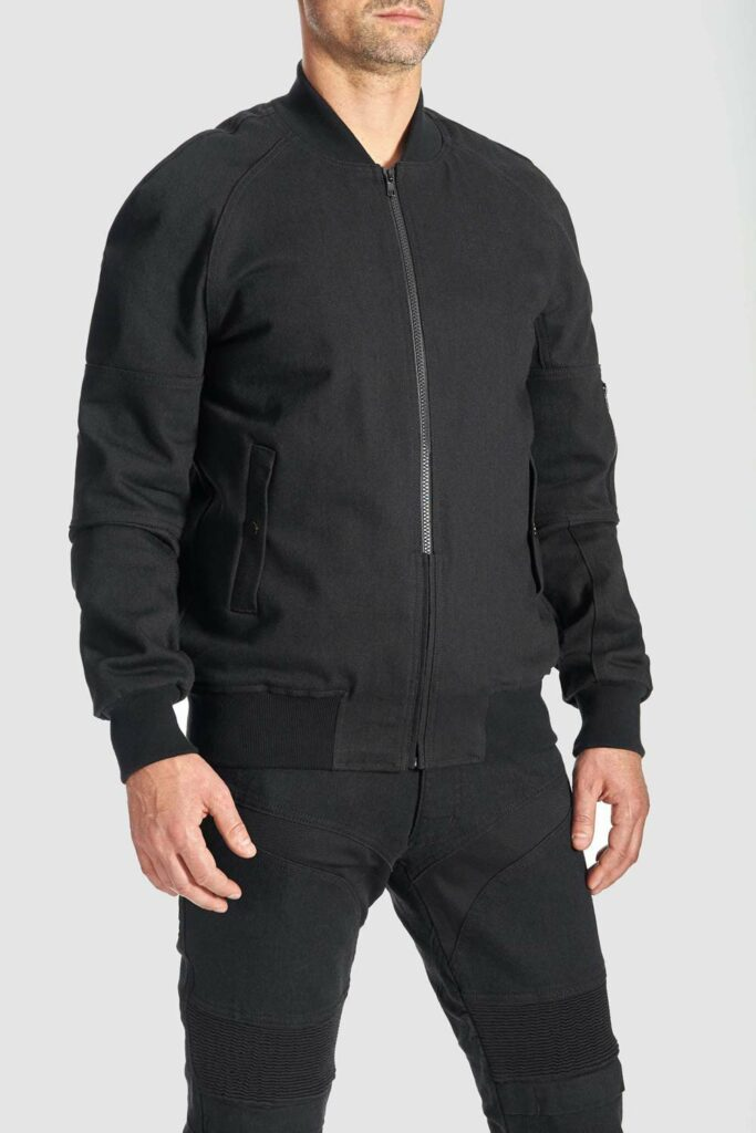 Bomber Cor 01 Motorcycle bomber jacket – Unisex Cordura® Armored front view