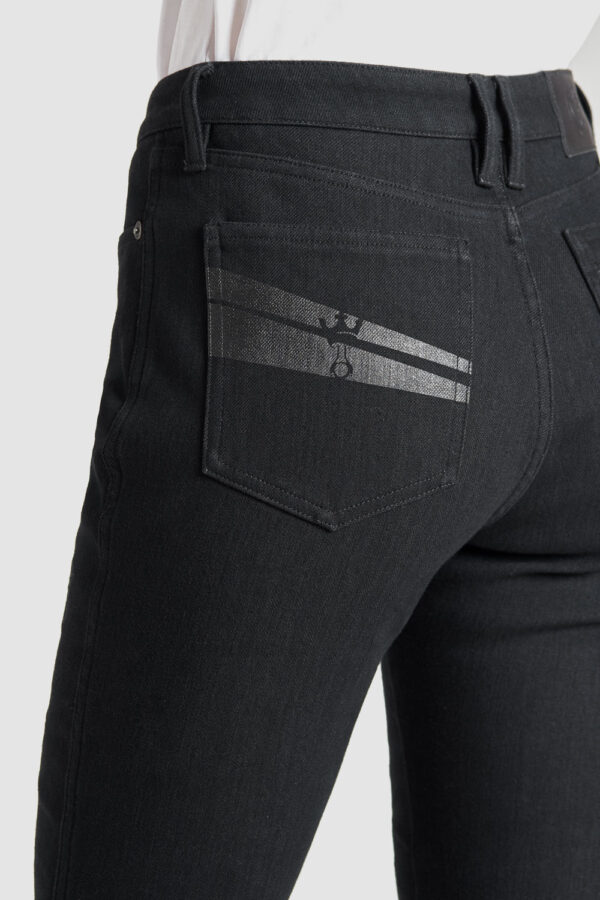 Kissaki Dyn 01 Motorcycle Jeans for Women rear pocket close up