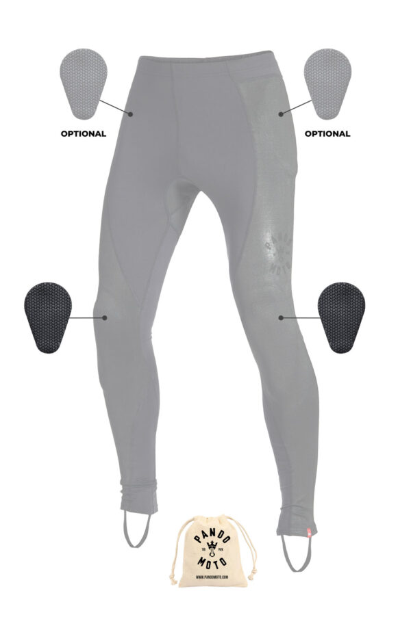 SKIN UH 02 armored motorcycle leggings protection areas