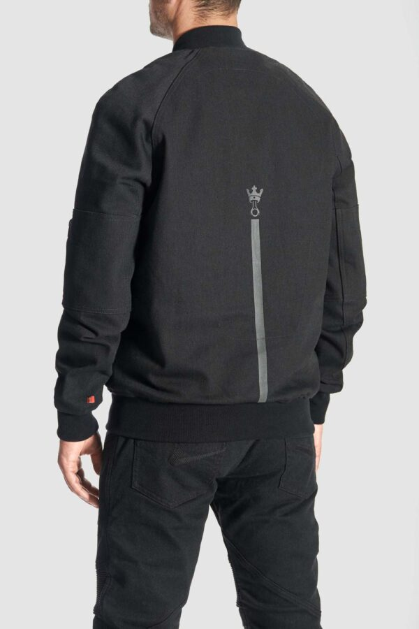 Armored Motorcycle Bomber Jacket back view