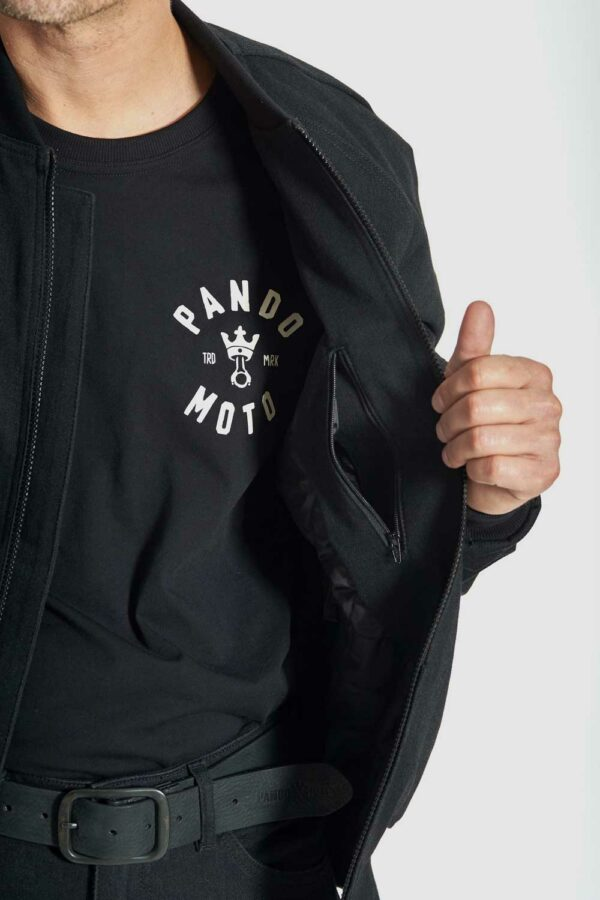 Armored Motorcycle Bomber Jacket Cor inside look