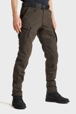 Mark KEV 02 Olive Motorcycle Jeans side view