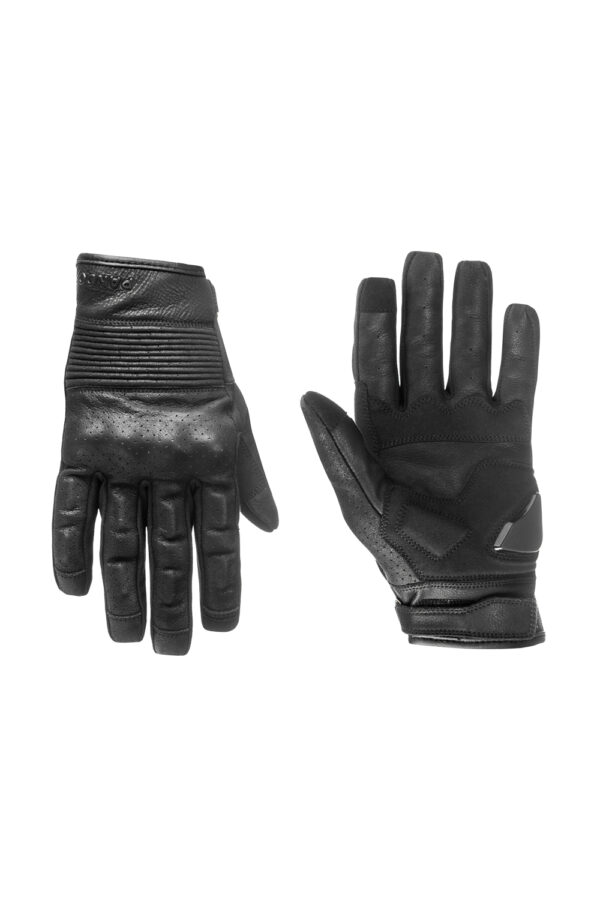 Onyx Black 01 motorcycle gloves front view 2