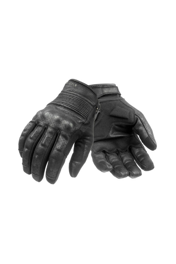 Onyx Black 01 motorcycle gloves front view
