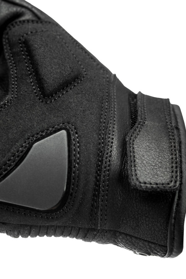 Onyx Black 01 motorcycle gloves front view close up 2