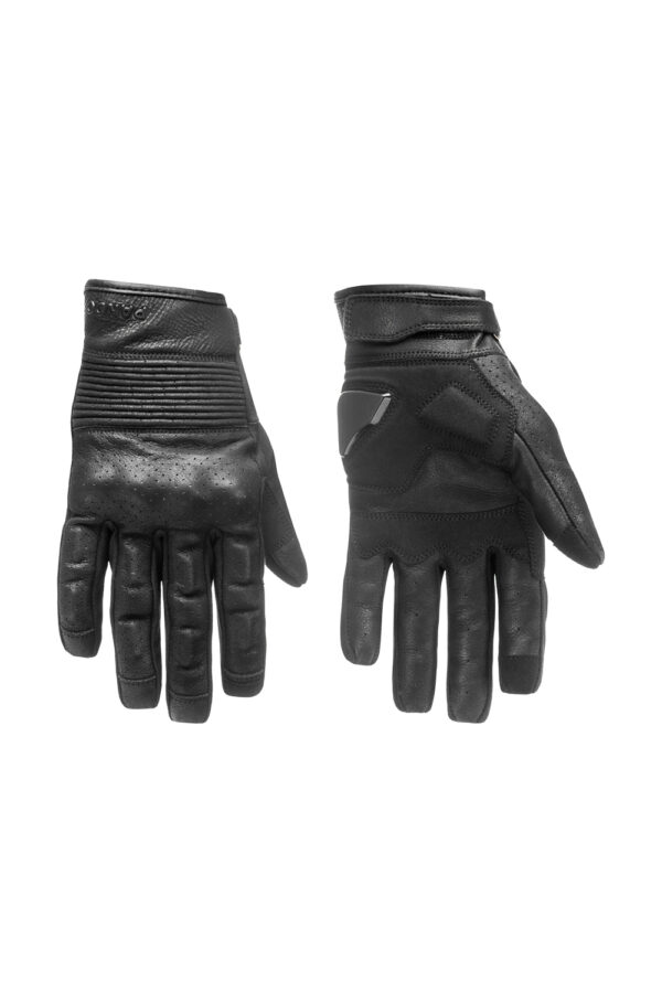Onyx Black 01 motorcycle gloves front view 3