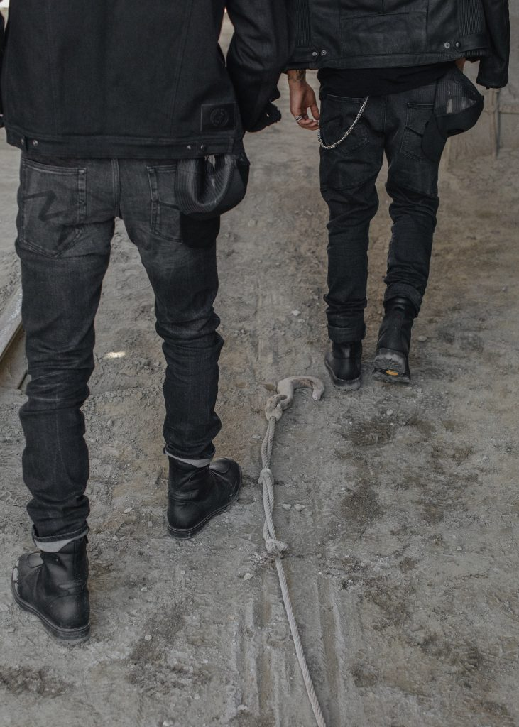 An example of Dyneema jeans from the back view