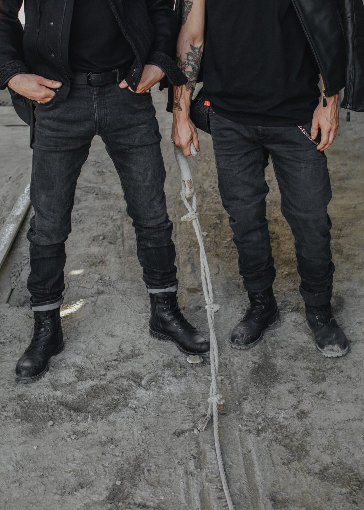 An example of Dyneema jeans from the front